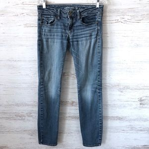 AMERICAN EAGLE Mid Rise Skinny Jeans 6 SHORT